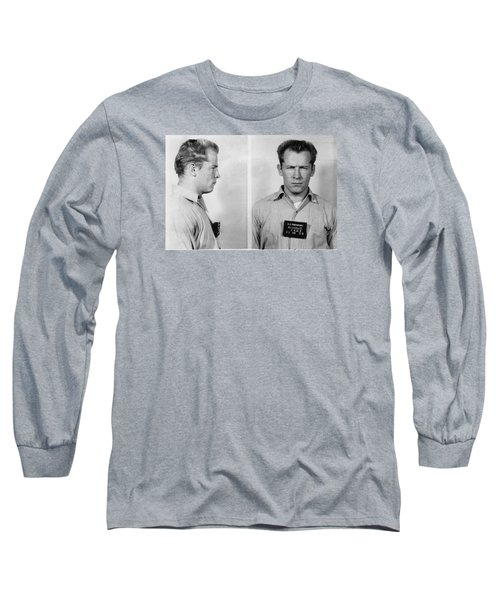 Whitey Bulger Mug Shot Long Sleeve T-Shirt by Edward Fielding
