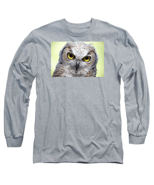 Whooo Long Sleeve T-Shirt by Tom Buchanan