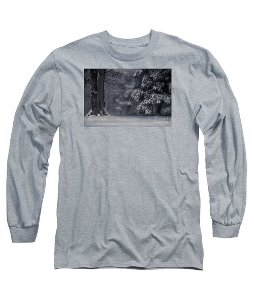 Whose Woods These Are I Think I Know Long Sleeve T-Shirt by William Fields