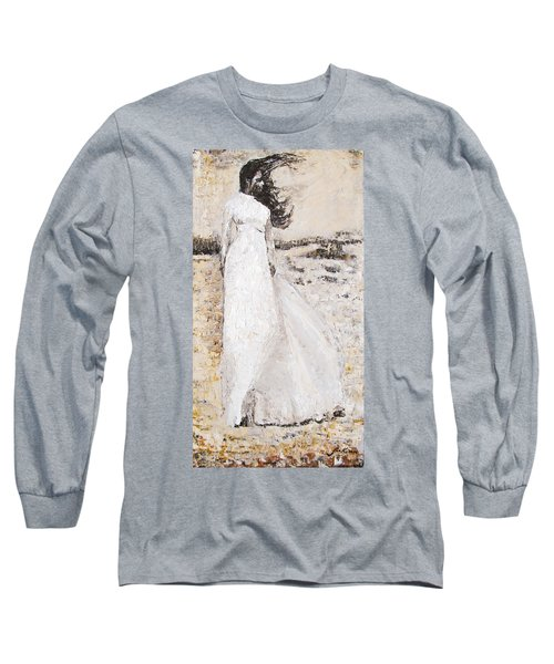 Long Sleeve T-Shirt featuring the painting Out On The Wiley Windy Moors by Jarko Aka Lui Grande
