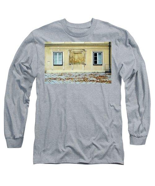 Wiener Wohnhaus Long Sleeve T-Shirt by Christian Slanec