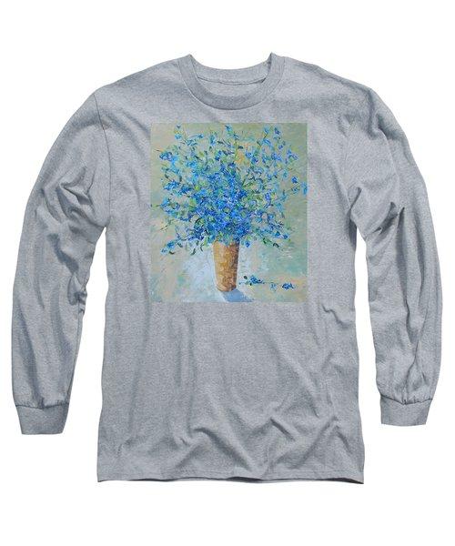 Wild Blue Floral Long Sleeve T-Shirt