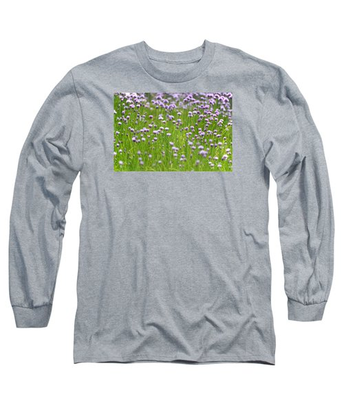 Long Sleeve T-Shirt featuring the photograph Wild Chives by Chevy Fleet