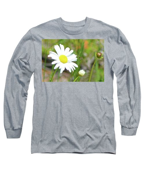 Wild Daisy With Visitor Long Sleeve T-Shirt