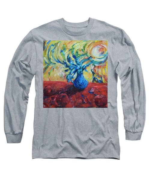 Long Sleeve T-Shirt featuring the painting Wild Flower by Yulia Kazansky
