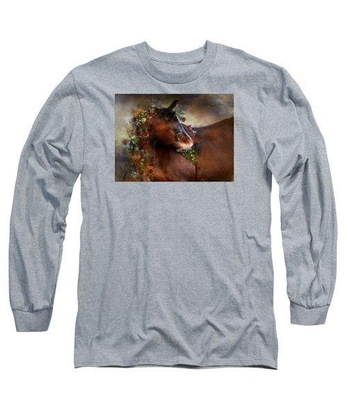 Long Sleeve T-Shirt featuring the digital art Wild Flowers by Dorota Kudyba