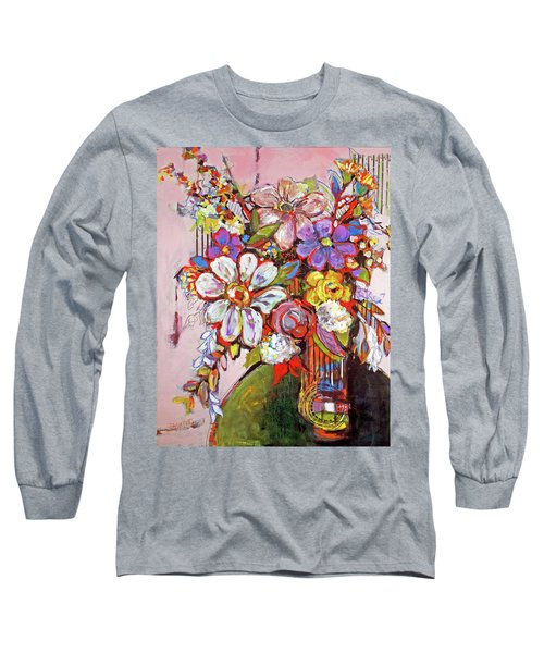 Wild Flowers Long Sleeve T-Shirt by Sharon Furner