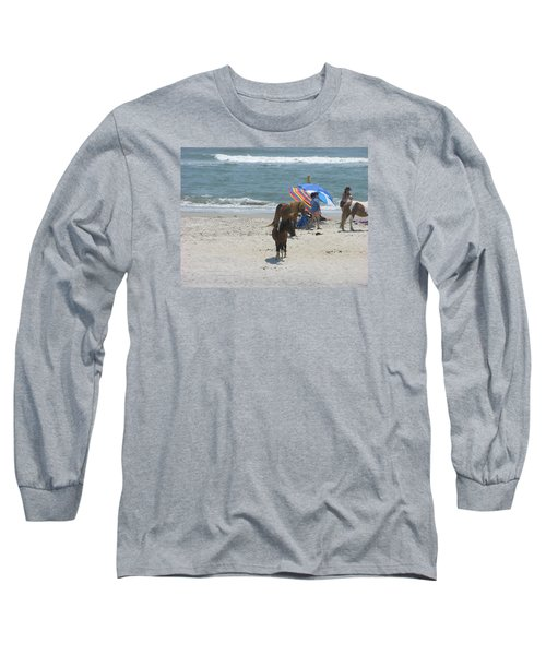 Long Sleeve T-Shirt featuring the photograph Wild Horses by Helen Haw