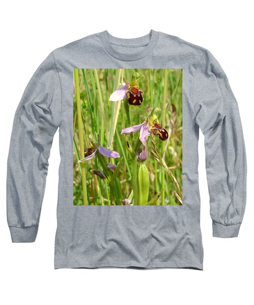 Wild Meadow Bee Orchids Long Sleeve T-Shirt