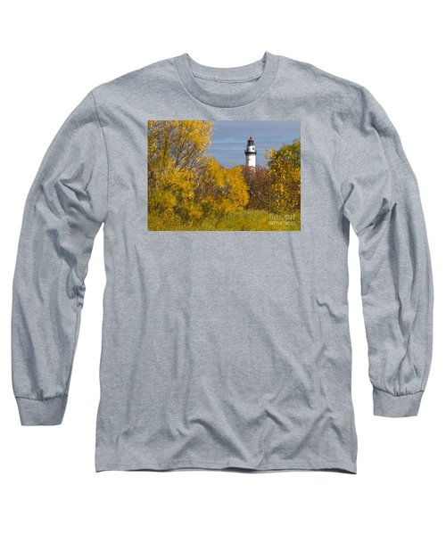 Wind Point Lighthouse In Fall Long Sleeve T-Shirt