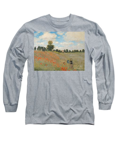 Wild Poppies Near Argenteuil Long Sleeve T-Shirt