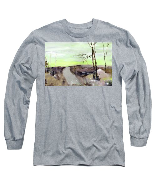 Long Sleeve T-Shirt featuring the painting Wilderness 2 by Anil Nene