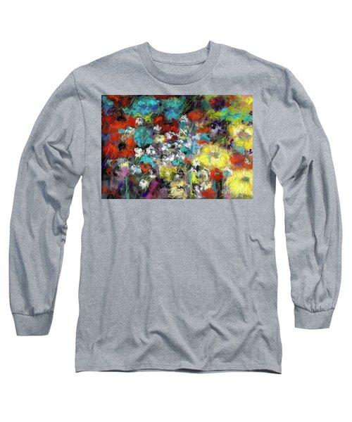 Wildflower Field Long Sleeve T-Shirt by Frances Marino