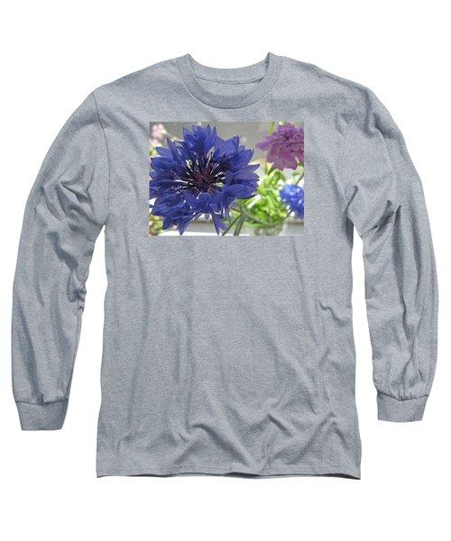 Wildflower Fluff Long Sleeve T-Shirt by Barbara McDevitt