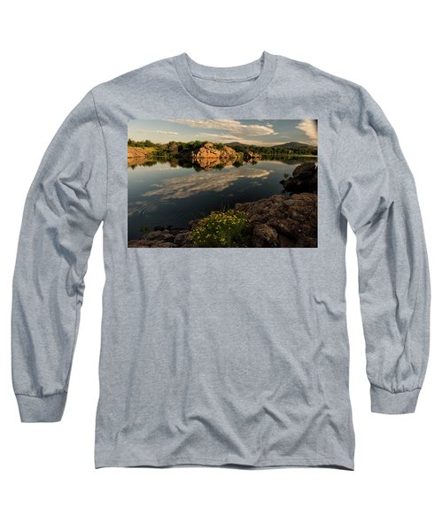 Wildflowers At The Lake Long Sleeve T-Shirt