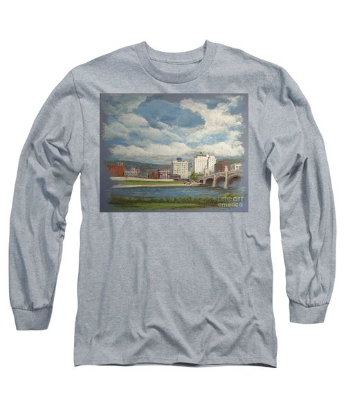 Wilkes-barre And River Long Sleeve T-Shirt by Christina Verdgeline