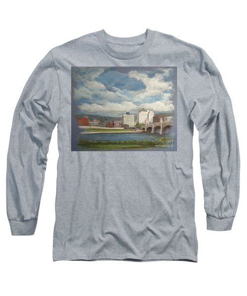 Wilkes-barre And River Long Sleeve T-Shirt