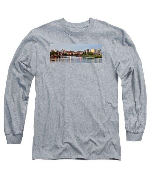 Wilmington Delaware At Dusk Long Sleeve T-Shirt by Brendan Reals