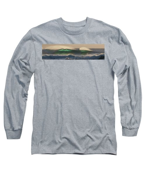 Wind And Waves Long Sleeve T-Shirt by Roger Mullenhour