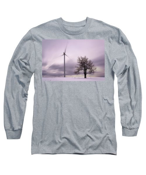 Wind Power Station, Ore Mountains, Czech Republic Long Sleeve T-Shirt
