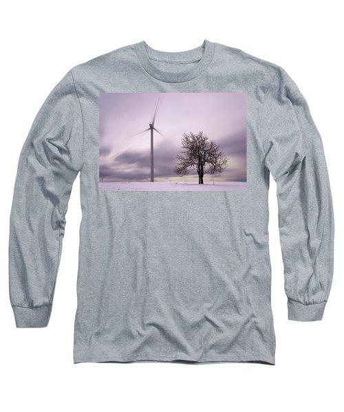 Wind Power Station, Ore Mountains, Czech Republic Long Sleeve T-Shirt