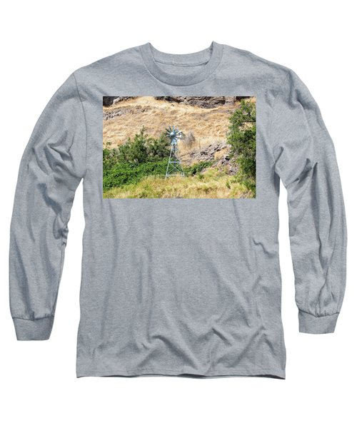 Windmill Aerator For Ponds And Lakes Long Sleeve T-Shirt
