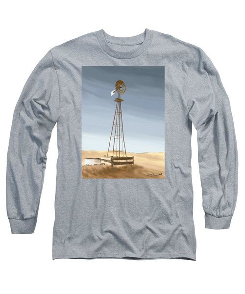Long Sleeve T-Shirt featuring the painting Windmill by Terry Frederick