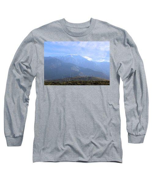 Windmills At San Jacinto Mt Long Sleeve T-Shirt by Viktor Savchenko