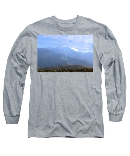 Windmills At San Jacinto Mt Long Sleeve T-Shirt