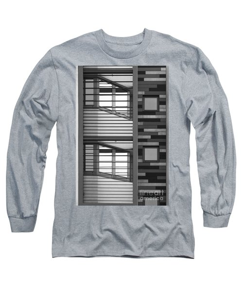 Vertical Horizontal Abstract Long Sleeve T-Shirt by Wendy Wilton