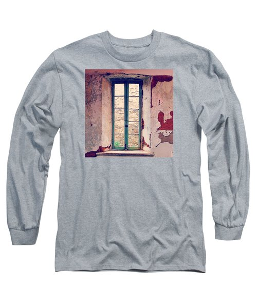 Window In Eastern State Pennitentiary Long Sleeve T-Shirt by Sharon Halteman