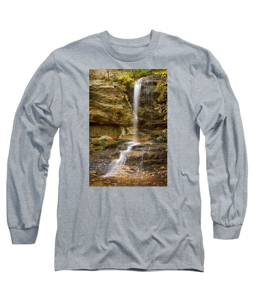 Long Sleeve T-Shirt featuring the photograph Window Falls In Hanging Rock State Park by Bob Decker