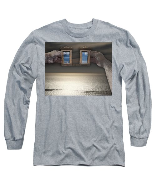 Window Hands Long Sleeve T-Shirt by Christopher Woods