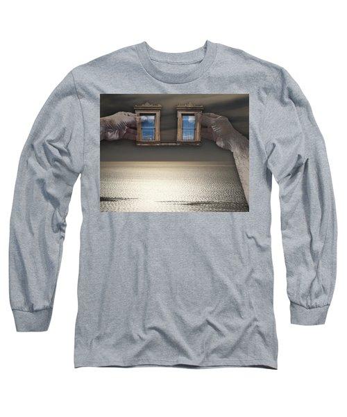 Window Hands Long Sleeve T-Shirt
