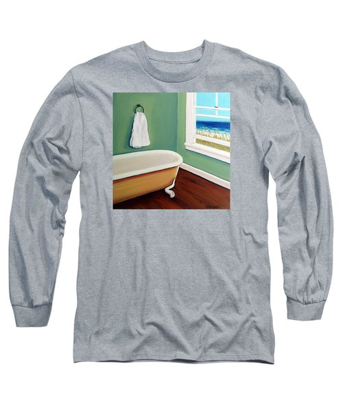 Window To The Sea No. 4 Long Sleeve T-Shirt by Rebecca Korpita
