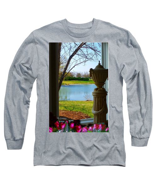 Window View Pond Long Sleeve T-Shirt