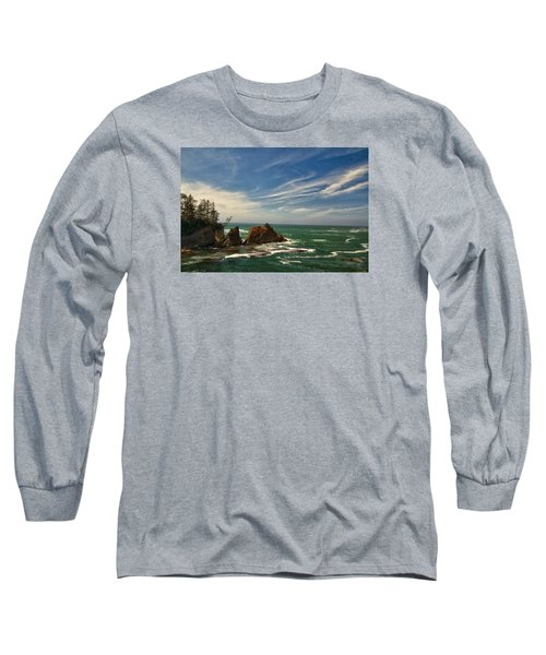 Long Sleeve T-Shirt featuring the photograph Windswept Day by Tom Kelly