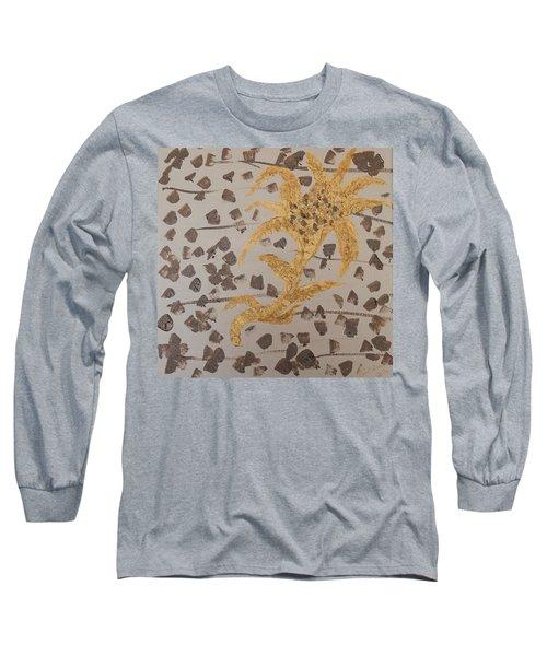 Windswept Golden Plantae #4 Long Sleeve T-Shirt by Rachel Hannah