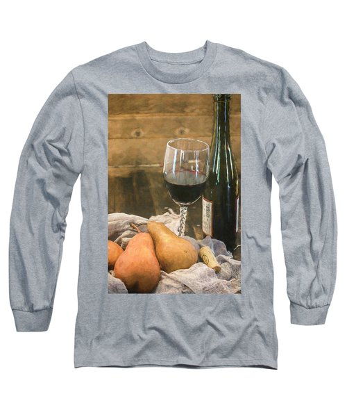Wine And Pears Long Sleeve T-Shirt