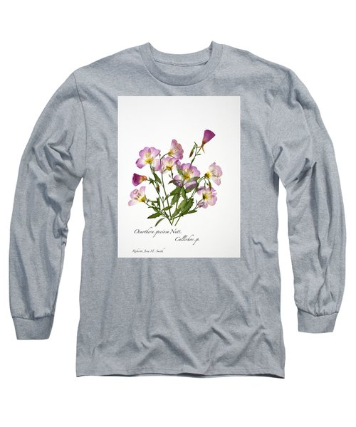 Wine-cup And Primrose Long Sleeve T-Shirt