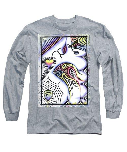 Wine Glass Fish Long Sleeve T-Shirt