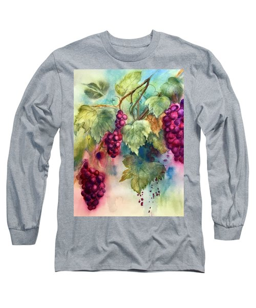 Wine Grapes Long Sleeve T-Shirt
