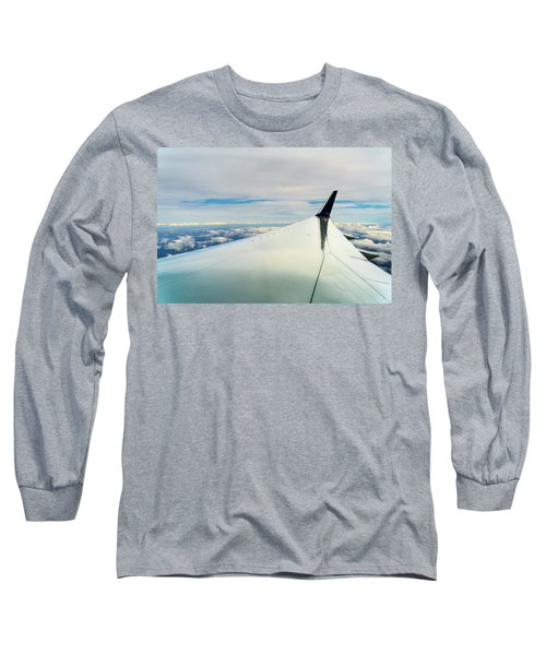 Wing And Clouds Long Sleeve T-Shirt by Robert FERD Frank