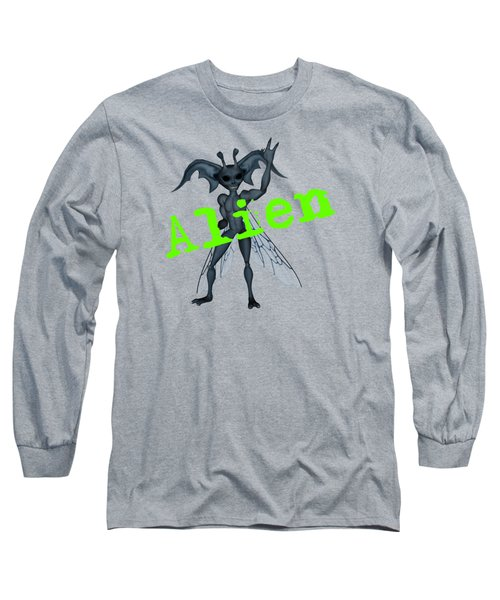 Winged Alien Peace Out Long Sleeve T-Shirt
