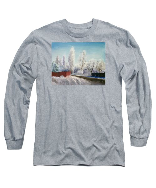 Long Sleeve T-Shirt featuring the painting Winter At Bonanza by Sherril Porter