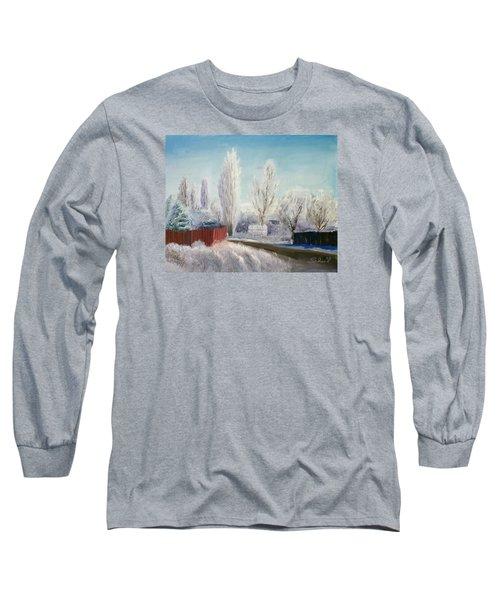 Winter At Bonanza Long Sleeve T-Shirt by Sherril Porter