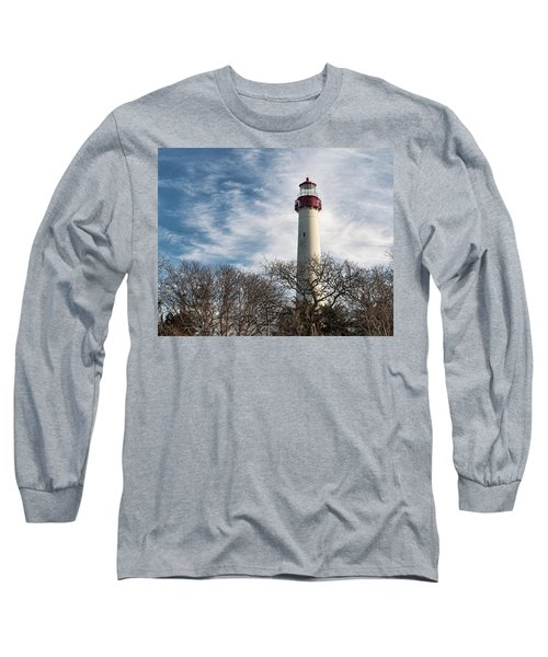 Winter At Cape May Light Long Sleeve T-Shirt