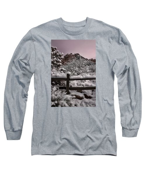 Long Sleeve T-Shirt featuring the photograph Winter At Garden Of The Gods by Ellen Heaverlo