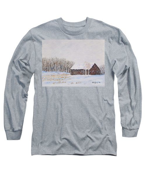Winter Barn Long Sleeve T-Shirt by Stanton Allaben