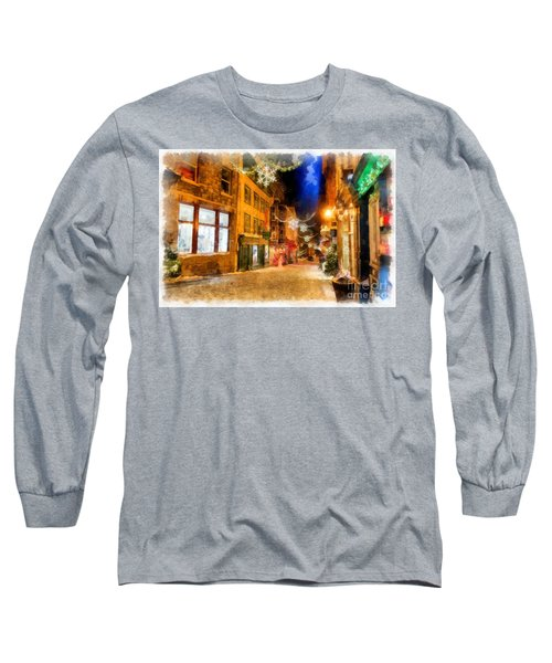 Winter Carnival Old Quebec City Lower Town Long Sleeve T-Shirt